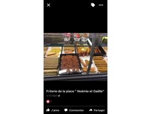 Friterie de la place Noemie et Gaelle