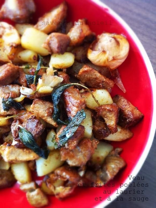 Veau et frites poêlées au laurier et à la sauge